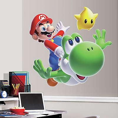 York Wallcoverings Nintendo® Mario and Yoshi Peel and Stick Giant Wall Decal