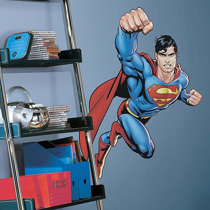Alternate image 1 for DC Comics Superman Day of Doom Peel and Stick Giant Wall Decal