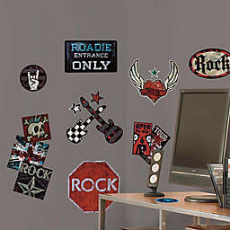 York Wallcoverings Rock-n-Roll Peel and Stick Wall Decals