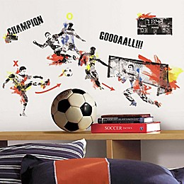 RoomMates® Men's Soccer Champion Peel and Stick Wall Decals (Set of 53)