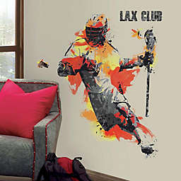 RoomMates® Men's Lacrosse Champion Peel and Stick Giant Wall Decals (Set of 9)