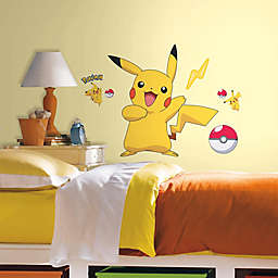 York Wallcoverings Pokémon Pikachu Peel and Stick Wall Decals (Set of 12)