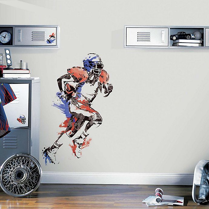 Alternate image 1 for York Wallcoverings Men's Football Champion Peel and Stick Giant Wall Decals (Set of 9)