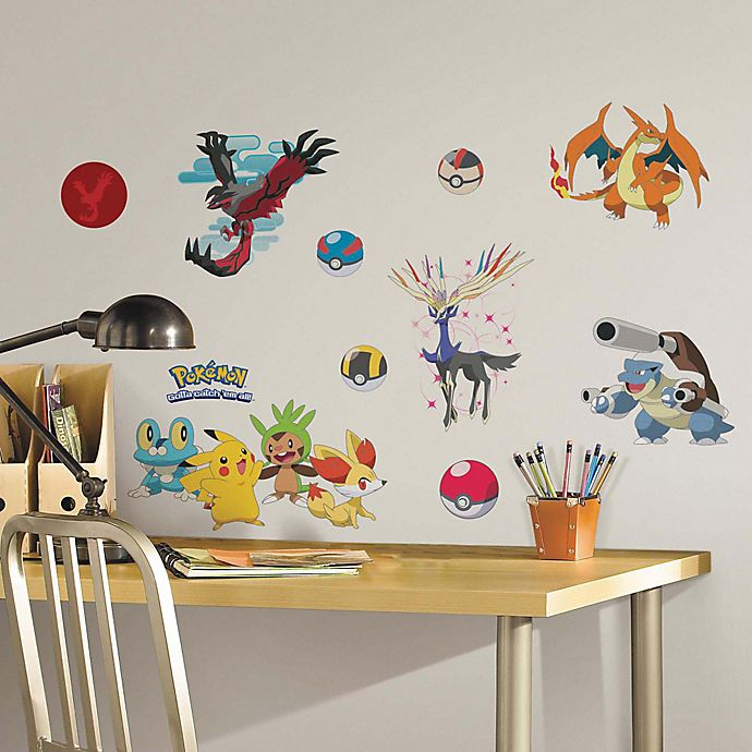 Alternate image 1 for York Wallcoverings XY Pokémon Peel and Stick Wall Decals (Set of 22)
