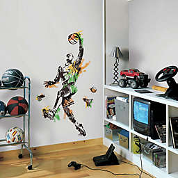 York Wallcoverings Men's Basketball Champion Peel and Stick Giant Wall Decals (Set of 10)