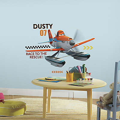 "York Wallcoverings Disney ""Planes: Fire and Rescue"" Dusty 12-Piece Peel and Stick Giant Wall Decals"