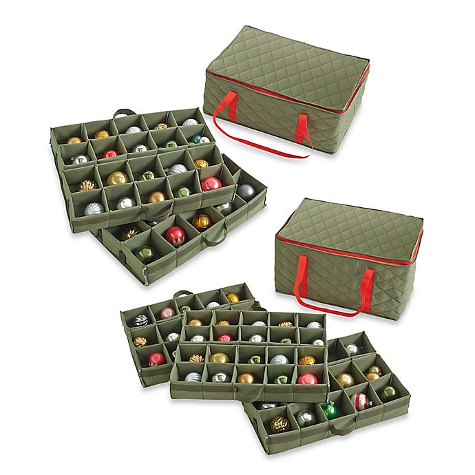 Alternate image 1 for Real Simple® Quilted Ornament Case
