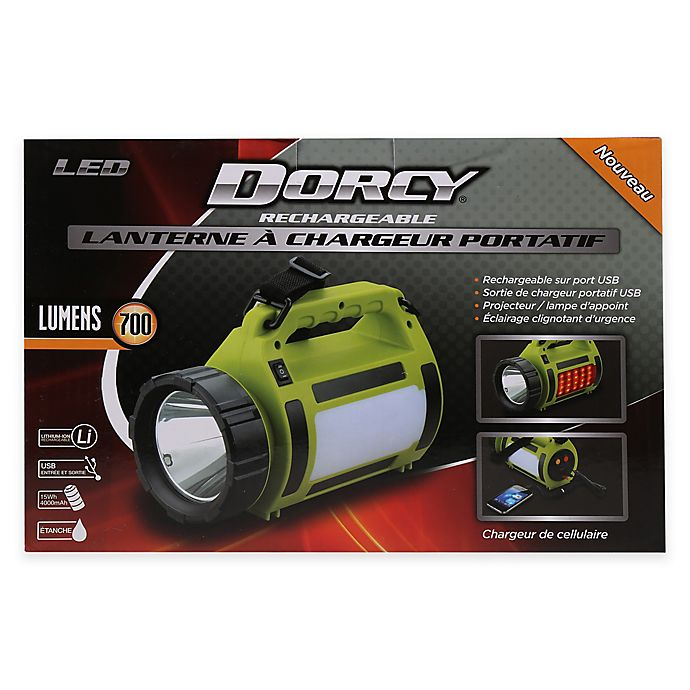 Dorcy® Battery Operated LED Rechargeable Lantern with Power