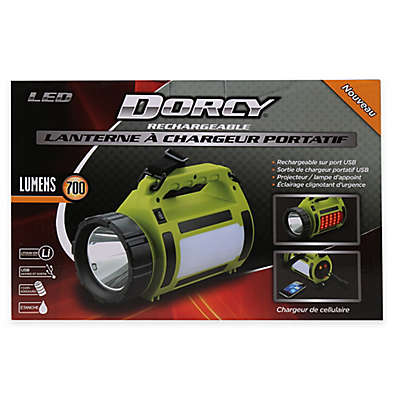 Dorcy® Battery Operated LED Rechargeable Lantern with Power Bank in Lime