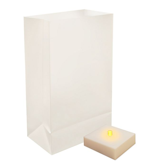 Alternate image 1 for Battery Operated LumaLite Luminaria Kit with White Bags with Timer (6-Count)