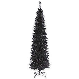 National Tree 6-Foot Tinsel Christmas Tree in Black