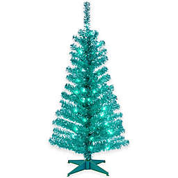 National Tree Company Tinsel Pre-Lit Christmas Tree with Plastic Stand