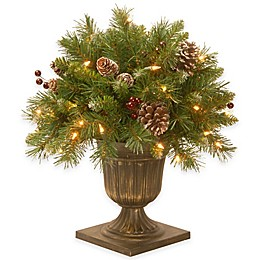 National Tree Frosted Berry Porch Bush with Clear Lights