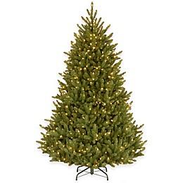 National Tree 7.5-Foot Natural Fraser Pre-Lit Medium Fir Hinged Christmas Tree w/Clear Lights