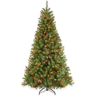 National Tree Company North Valley Spruce Pre-Lit Hinged Christmas Tree with Multi-Color Lights