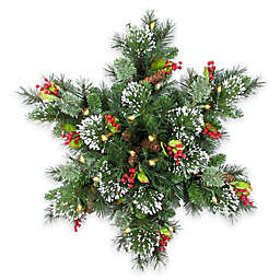 National Tree 32-Inch Wintry Pine Snowflake Decoration