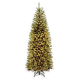 National Tree 7.5-Foot Kingswood Fir Pre-Lit Hinged Slim Christmas Tree with Dual-Color LED Lights