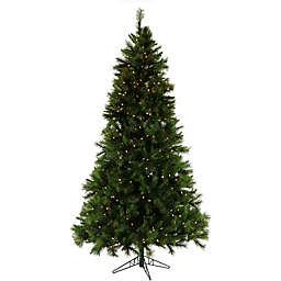 Fraser Hill Farm 7.5-Foot Pre-Lit Smart Lighting Canyon Pine Artificial Christmas Tree