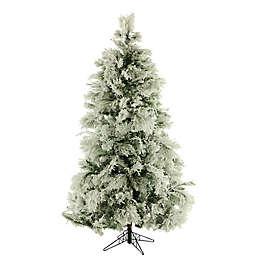 Fraser Hill Farm 7.5-Foot Flocked Snowy Pine Artificial Christmas Tree