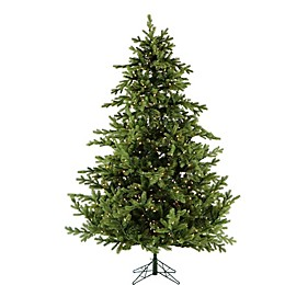 Fraser Hill Farm 7.5-Foot Pre-Lit Smart Lighting Southern Peace Pine Artificial Christmas Tree