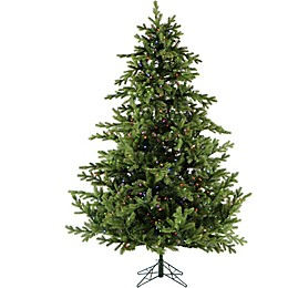 Fraser Hill Farm 7.5-Foot Pre-Lit Multicolored Southern Peace Pine Artificial Christmas Tree