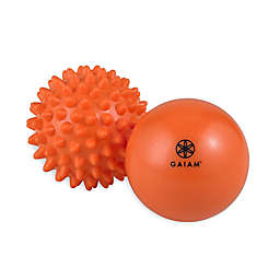 Gaiam Restore Hot and Cold Massage Therapy Balls in Orange