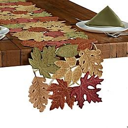 Leaf Medley Cutwork Table Runner