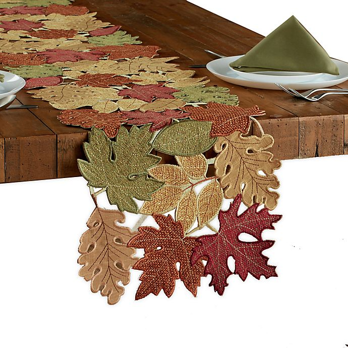 Alternate image 1 for Leaf Medley Cutwork Table Runner