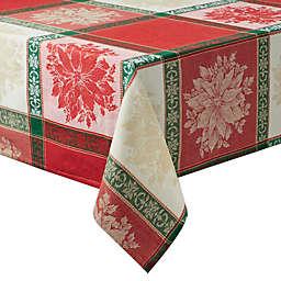 Poinsettia Jacquard 60-Inch x 120-Inch Tablecloth