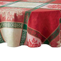 Poinsettia Jacquard Tablecloth