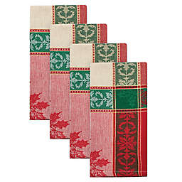 Poinsettia Jacquard Napkins (Set of 4)