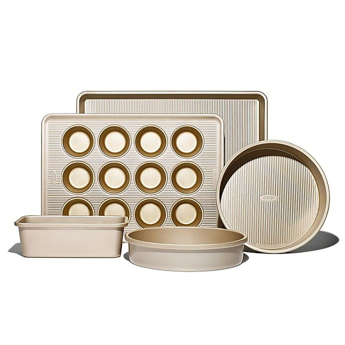 Alternate image 1 for OXO Good Grips® Pro Nonstick 5-Piece Bakeware Set