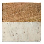 Thirstystone® Marble and Wood Trivet in White