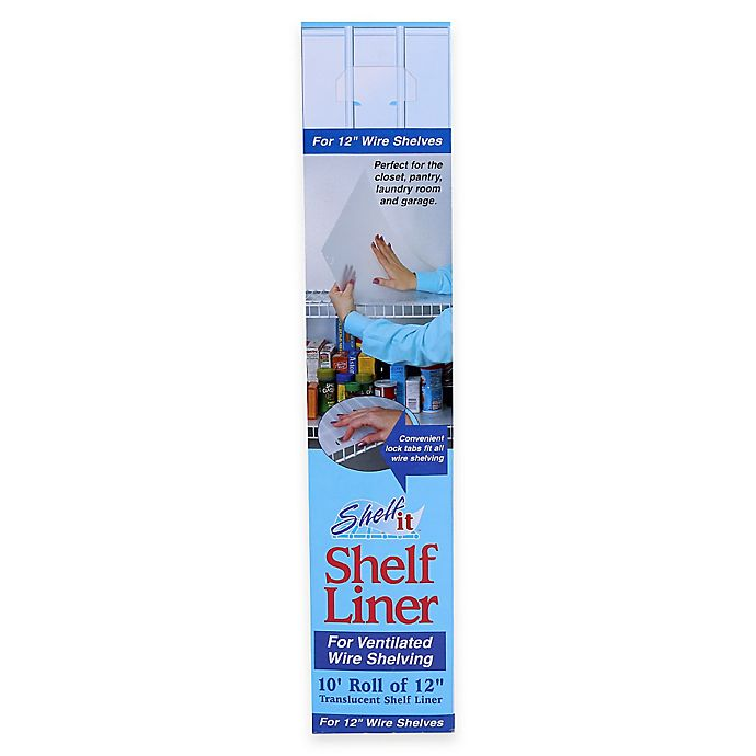 Alternate image 1 for Shelf-It Liner For 12-Inch Non-Adhesive Wire Shelving