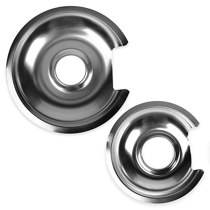 Alternate image 1 for Range Kleen® 2-Pack Chrome Drip Pans