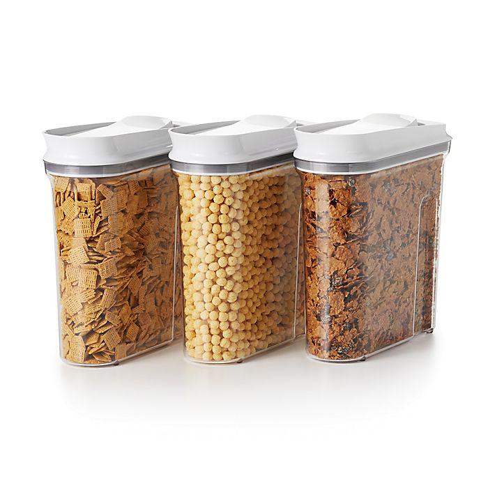 Alternate image 1 for OXO Good Grips® Pop Cereal Dispensers (Set of 3)