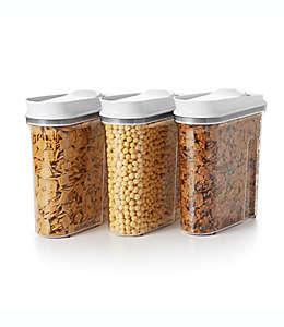 Dispensadores de cereal de polipropileno OXO Good Grips® Pop, 3 piezas