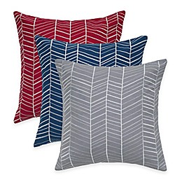 Rizzy Home Retro Embroidered Square Throw Pillow