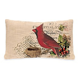 Heritage Lace® Winter Garden Cardinal Oblong Throw Pillow