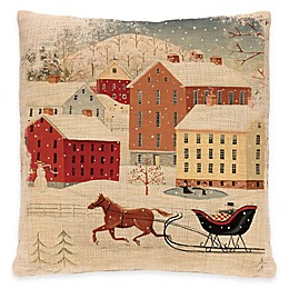 Heritage Lace® Sleigh Ride Square Throw Pillow