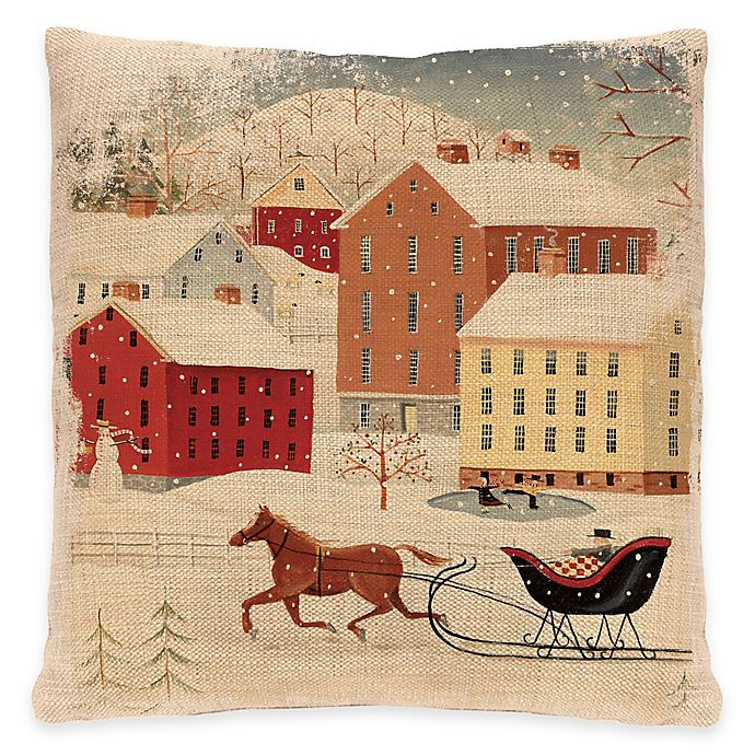 Alternate image 1 for Heritage Lace® Sleigh Ride Square Throw Pillow