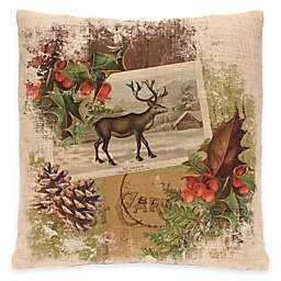 Heritage Lace® Woodland Christmas Reindeer Square Throw Pillow