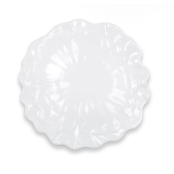 Alternate image 1 for Q Squared Peony 16-Inch Round Serving Platter in White