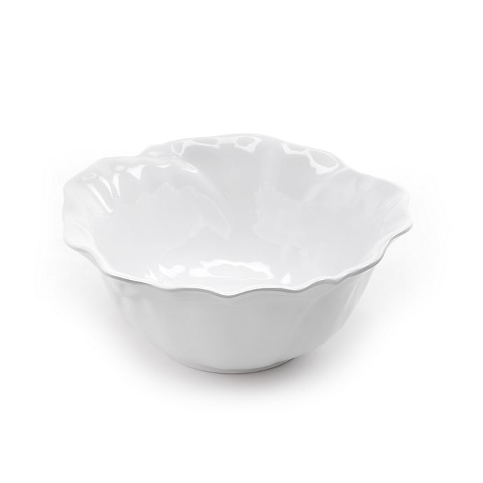 Alternate image 1 for Q Squared Peony 9-Inch Serving Bowl in White