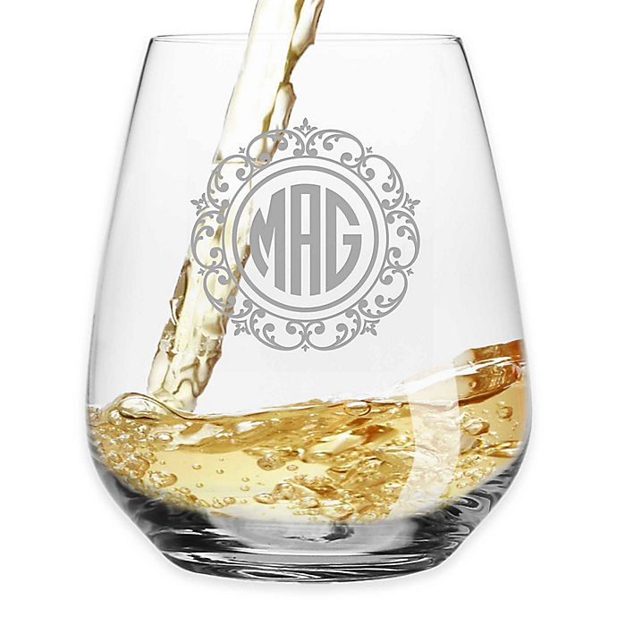 ac9bf5f9f61 Susquehanna Glass Lace Stemless Wine Glasses (Set of 4)   Bed Bath ...