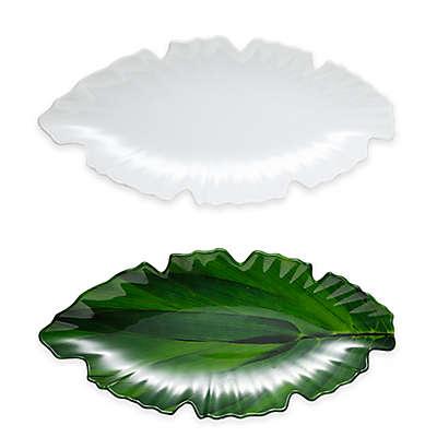 Q Squared Zen Leaf Platter in White