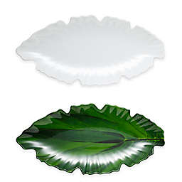Q Squared Zen Leaf Platter in White