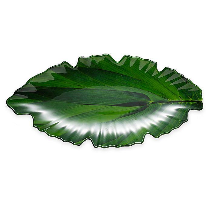 Alternate image 1 for Q Squared Zen Large Leaf Platter in Green