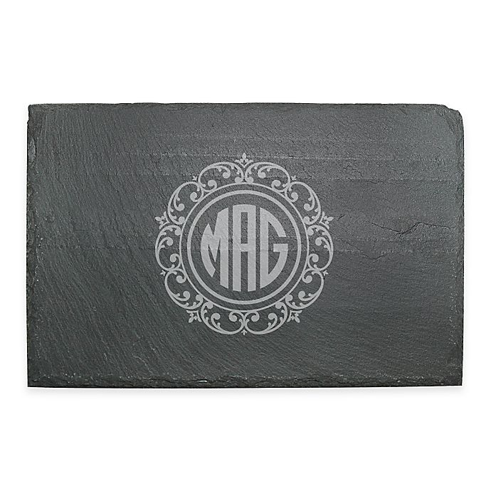 Alternate image 1 for Susquehanna Glass Lace Slate Cheese Board