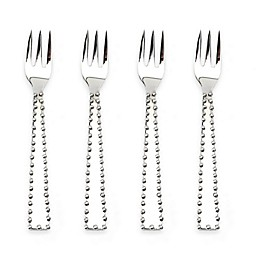 Classic Touch Tervy Beaded Cocktail Forks (Set of 4)